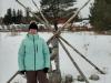 Clara enjoying snowshoeing at Morrison Meadows 2
