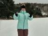 Clara enjoying snowshoeing at Morrison Meadows 3