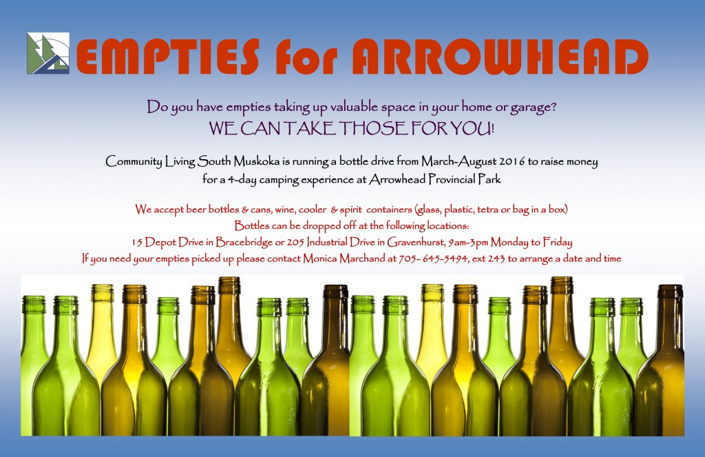 Bottle Drive - Empties for Arrowhead! @ Morrison Meadows | Bracebridge | Ontario | Canada
