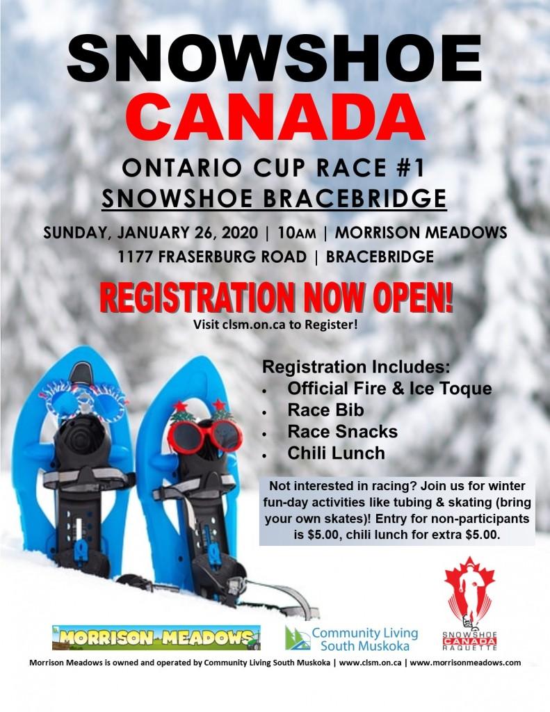 Snowshoe Canada - Ontario Cup Race #1 - Snowshoe Bracebridge @ Morrison Meadows